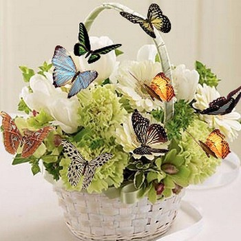 5D DIY Diamond Painting Nature Round Flowers Baskets Full Drill Mosaic Butterfly Decor Diamond Embroidery Painting Home Decor