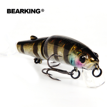 Retail 2016 Hot model Bearking fishing lures,113mm/13g swimbait jointed bait minnow, 10 different colors,crank minnow bait