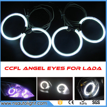 CCFL для Lada Priora CCFL Angel Eyes Кольца для Lada Priora не проектор HALO КОЛЬЦА