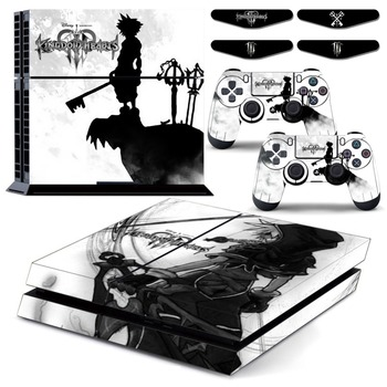 Junsi Kingdom Hearts тела PS4 vingl кожи наклейка для Playstation 4 консоли и play station 4 контроллера и LED свет бар